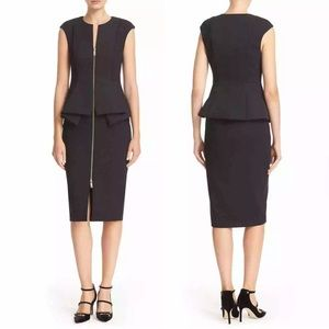 Ted Baker Peplum Front Zip Jumana Dress